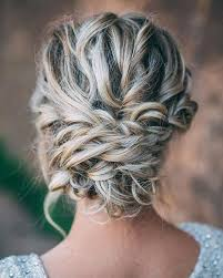 Beautiful messy braid updo wedding hairstyle for romantic brides - Bridal  hairst... - Twila Schroeder - Beauti… | Braided updo bridal, Hair styles,  Long hair styles