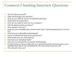 Career In Investment Banking Presented To Econ 40 December 40 Interesting Investment Banking Walk Me Through Your Resume