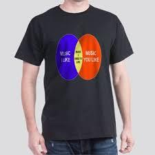 Music You Like Music I Like Venn Diagram I D Like To Check You For Ticks T Shirts Cafepress