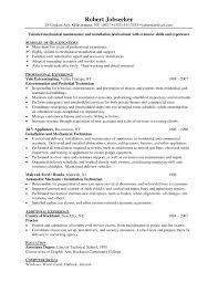 Maintenance Supervisor Resume Template Example Of Sample Resume