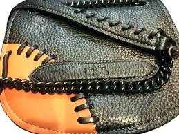 baseball glove leather wallet purse coach chain link cross bag authentic wallets