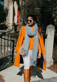 Light Blue And Brown Outfit A Colorful Blue And Orange Outfit Fashion Style