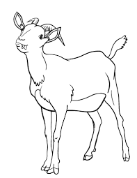 Small Picture Free Goat Coloring Page