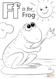Small Picture Letter F is for Frog coloring page Free Printable Coloring Pages