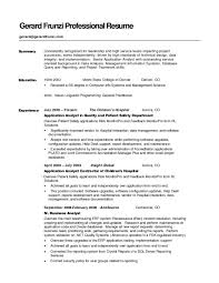 Writing Resume Summary Surprising A Templates Sample For Career
