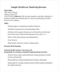 healthcare resume sample healthcare marketing resume sample for manager from blue 3 health