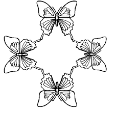 Small Picture FREE Butterfly Coloring Pages Butterfly Circle