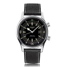 mens military watches the watch gallery longines heritage black dial automatic mens watch l36744500