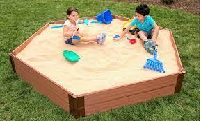 Hexagon Wooden Sandbox - 7' x 8' x 11
