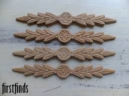 wooden appliques for furniture. 4 Wood Appliques Furniture Door Drawer Dresser Kitchen Embelishment Decoration Ornate Detail DETAILS LISTED BELOW Wooden For