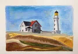 copy of a lighthouse hill edward hopper 1927