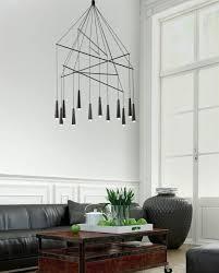 chandelier black modern design living room lighting