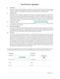 Simple Nda Template Free Sample Unilateral Simple Nda Agreement Template Non Disclosure