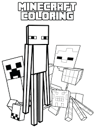 Coloring Pages Minecraft Coloring Pages Enderman Image Brilliant