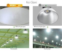 led high bay lighting fixture advanced heatsink design 185w warehouse lighting no glare