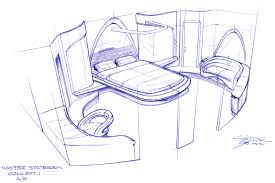 Architecture design concept Abstract Master Stateroom Concept Applied Concepts Unleashed Yacht Design Yacht Interior Architectural Design Applied Concepts Unleashed