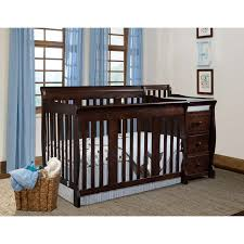 All In One Crib Nursery Decors Furnitures Crib And Changing Table Combo With