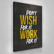inspirational office decor. Motivational Canvas Print Quote Moder Art Office Wall Decor Don\u0027t Wish \u2013 Success Hunters Inspirational I