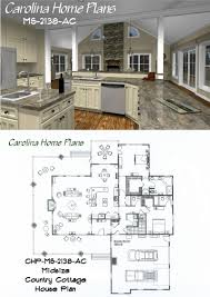 Midsize Country Cottage House Plan with open floor plan layout, great for  entertaining.