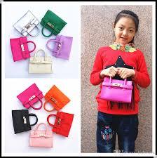 New Candy Color Kid Handbag Fashion PU Leather Messenger Bags Kids ...