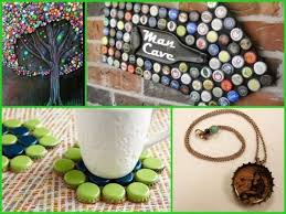 Decorated Bottle Caps Creative Idea For Home Decoration 60 Creative Diy Bottle Cap Ideas 50