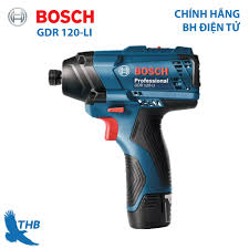 Máy bắt vít dùng pin Máy khoan vặn vít dùng pin Máy khoan pin Bosch GDR  120-LI Công suất 12V cho nhiều ứng dụng Bảo hành điện tử 12 tháng