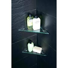 glass corner shower shelf best showers images on bathroom accessories black glass shower shelf corner how