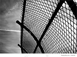 Broken chain link fence png Security Wire Curved Chain Link Fence Against Dramatic Sky Featurepicscom Architectural Details Curved Chain Link Fence Stock Image