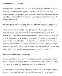 Entry Level Teacher Resume Custom Teaching Resume Cover Letter Professional Sample Resume Format