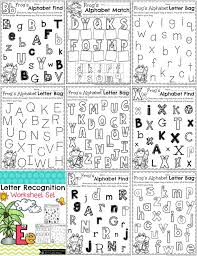 Letter Recognition Worksheets - Planning Playtime