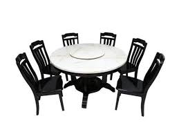 wooden 6 seater round dining table sets