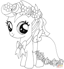 Coloring Pages Princess Cadence My Little Pony Coloring Page