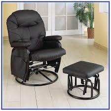 swivel glider rocker recliner chair with ottoman
