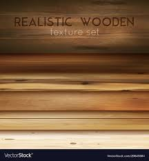 realistic wooden textures background vector image