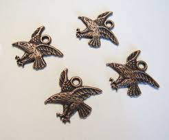 copper eagle charm antique deled one sided drop native american alaskan tribal whole jewelry supply southwest crazycoolstuff