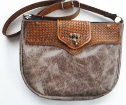 rustic leather purse