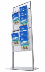 Free Standing Literature Display Extraordinary BR Freestanding Literature Brochure Stands Signs 32 Schools