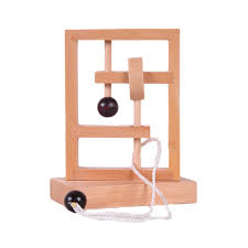 Wooden Games For Adults 100D Rope Puzzle Mouse Maze String Puzzles IQ Mind Brain Teaser 57