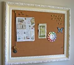 Here's another great project you can do with an old vintage frame --  repaint it and turn it into a framed bulletin board like Lisa of Celebrate  Creativity