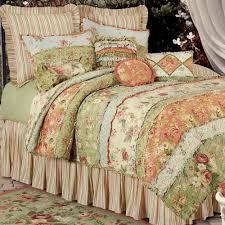 garden dream all cotton quilt cream touch to zoom