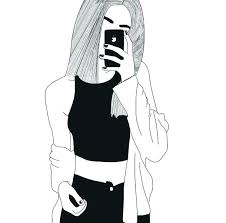 Hipster Drawings Girls Drawings Hipster Girl Drawing At Getdrawings Com Free For