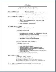 Resume Templates For Impressive Medical Assistant Duties Resume Free Resume Template Evacassidyme