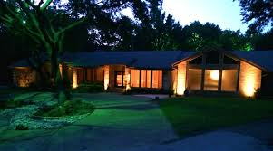 captivating exterior house lighting at moonlighting tree lighting dallas landscape lighting