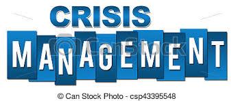 Crisis Management Professional Blue Stripes Crisis Management Text