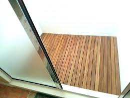 teak shower floor insert wooden mat com custom floors and bath australia