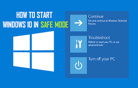 windows 10 safe mode how to start windows 10 in safe mode without f8 key