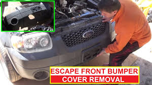 how to remove and replace the front bumper cover on ford escape 2002 Ford Escape Headlight Mod at 2001 Ford Escape Headlight Schematic
