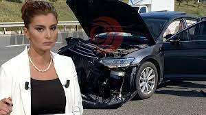 Hande Fırat trafik kazası geçirdi