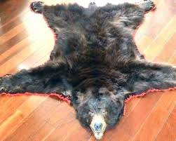 fake bear skin rug with head for faux rugs polar b