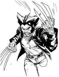 Small Picture Wolverine Coloring Pages UniqueColoringPages Adult coloring